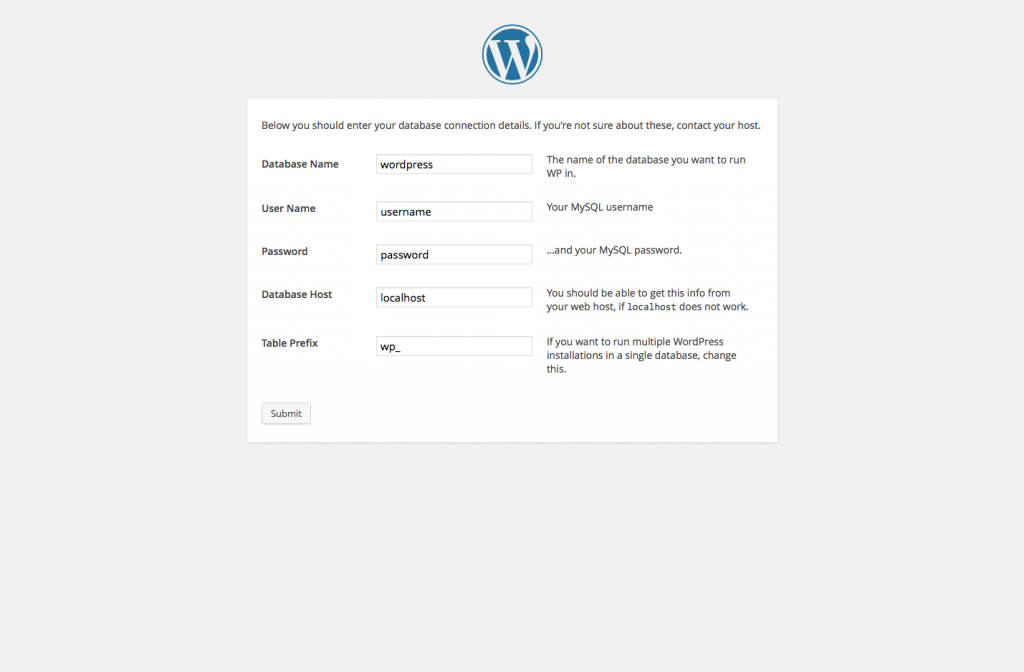 WordPress Install Page 3
