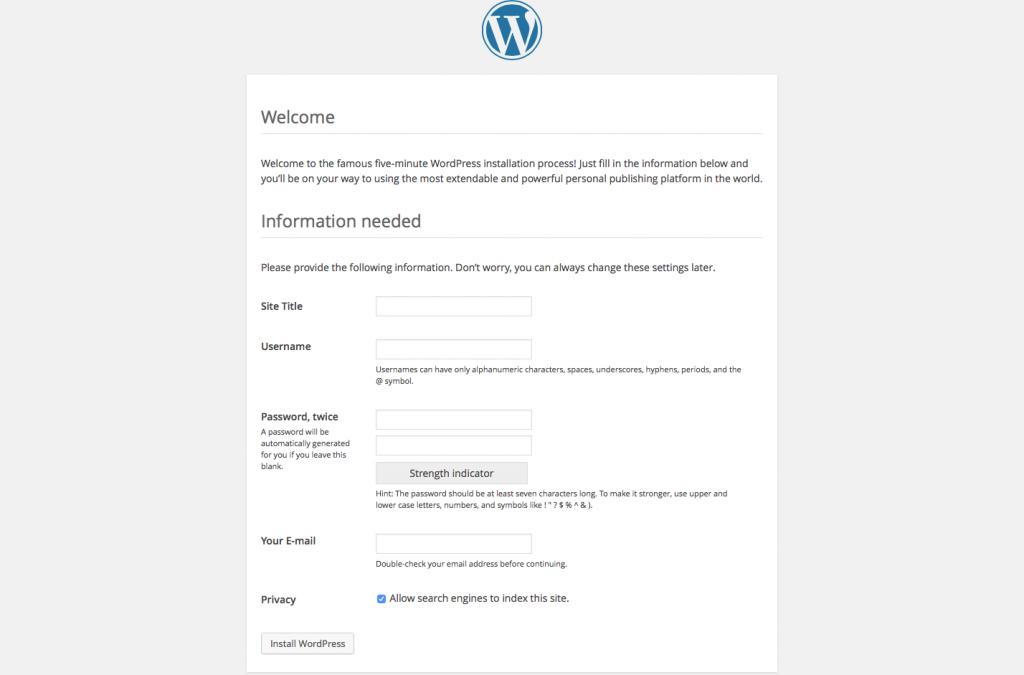 WordPress Install Page 4